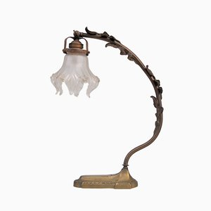Art Nouveau French Bronze Desk Lamp