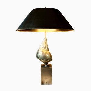 Lampada da tavolo a forma di conchiglia di Jaques Charles per Maison Charles, anni '60