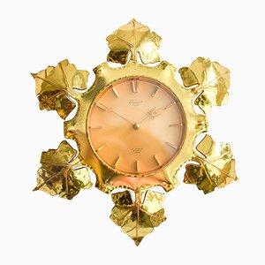 Reloj de pared en forma de sol Mid-Century