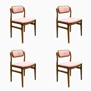 Vintage Danish Teak Dining Chairs by Johannes Andersen for Uldum Møbelfabrik, Set of 4