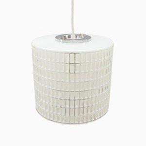 Lámpara de suspensión transparente y blanca de Limburg, años 60