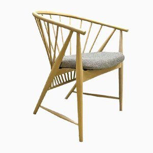 Vintage Sun Feather Spindleback Chair by Sonna Rosen for Nässjö Stolfabrik