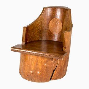 Schwedischer Baumstumpf-Armlehnstuhl aus Kiefer, 1934