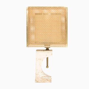 Travertin Tischlampe von Fratelli Mannelli, 1970er