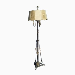 Art Nouveau Brass Floor Lamp, 1920s