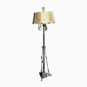 Jugendstil Messing Stehlampe, 1920er
