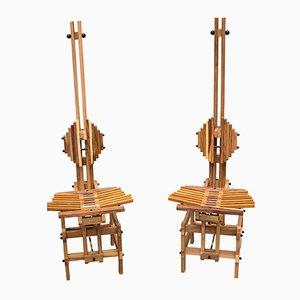 Sedie in legno di Anacleto Spazzapan, 1996, set di 2