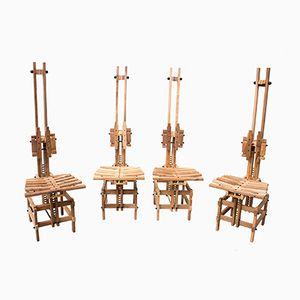 Sedie in legno di Anacleto Spazzapan, 1996, set di 4