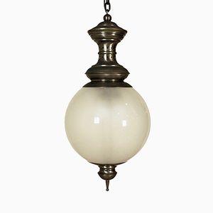 LS1 Brass & Glass Pendant Lamp by Luigi Caccia Dominioni for Azucena