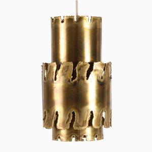 Lámpara colgante vintage de latón de Svend Aage Holm Sørensen para Holm Sørensen & Co