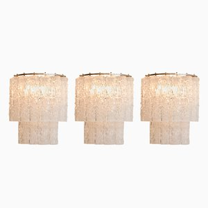 Murano Glass Sconces from Tronchi, 1960s, Set of 3
