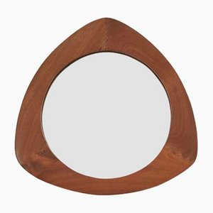 Triangle-Shaped Walnut Mirror by Campo & Graffi, 1950s