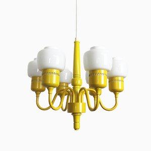 Lámpara colgante Hurricane en amarillo de Hans-Agne Jakobsson para AB Markaryd, años 60