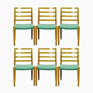 Vintage Scandinavian Oak Dining Chairs by Niels Otto Møller for J.L. Møllers, Set of 6
