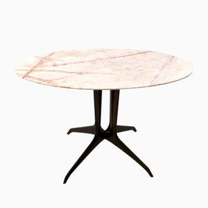 Italian Coffee Table with Portuguese Pink Marble Top, 1950s