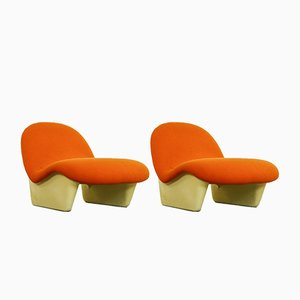 Orange Sadima Lounge Chairs by Luigi Colani for Basf, 1970s, Set of 2