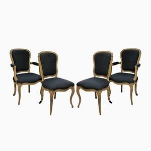 Antike Französische Esszimmerstühle, 1780er, 4er Set