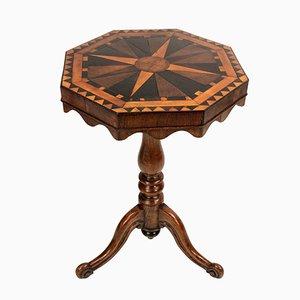Tavolino antico con intarsi geometrici, Regno Unito, inizio XIX secolo