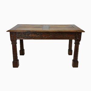Milieu de Table Gothic Revival en Chêne, France, 1820s