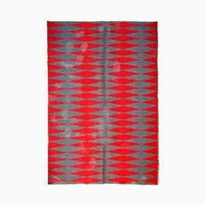 Alfombra Kilim sueca vintage de tejido plano hecha a mano, años 50