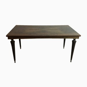 Art Deco French Lacquered Walnut Dining Table