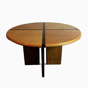 Mesa de comedor redonda vintage, años 70