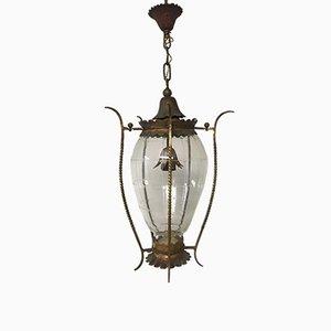 Lampe à Suspension Vintage en Métal Doré
