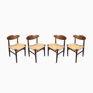 Chaises de Salle à Manger Mid-Century par Børge Mogensen pour Søborg Møbelfabrik, Danemark, 1960s, Set de 4