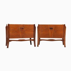 Tables de Chevet en Contreplaqué de Teck, 1960s, Set de 2