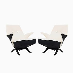 Mid-Century Penguin Chairs von Theo Ruth für Artifürt, 1957, 2er Set