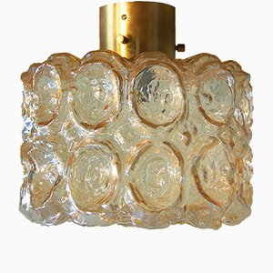Amber Glass Ceiling Lamp from Limburg, 1960s