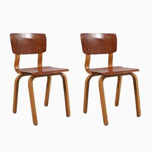 Kinderstühle aus Schichtholz, 1950er, 2er Set