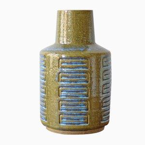 Grand Vase Vert Mousse & Bleu par Per Linnemann-Schmidt pour Palshus, Scandinavie, 1960s