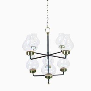 Lámpara de araña Mid-Century de Anders Pehrson para Ateljé Lyktan