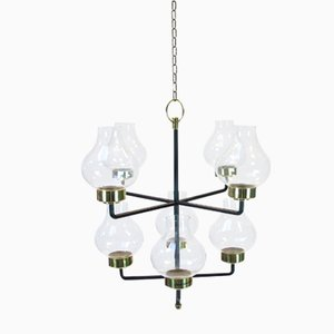 Mid-Century Chandelier by Anders Pehrson for Ateljé Lyktan