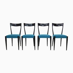 Italienische Esszimmerstühle von Melchiorre Bega, 1950er, 4er Set