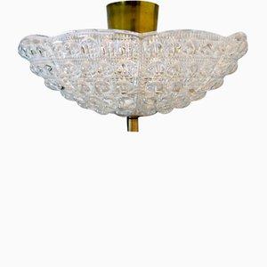 Deckenlampe von Carl Fagerhult für Orrefors, 1960er