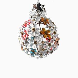 Vintage Buntglas Deckenlampe von Christoph Palme, 1960er