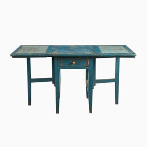 Antique Swedish Painted Folding Table