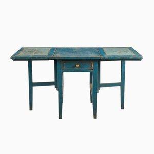 Mesa plegable sueca antigua pintada