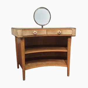 Wood and Parchment Dressing Table, 1950s