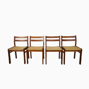Teak Chairs by Jorgen Henrik Moller for J.L. Møllers, 1950s, Set of 4