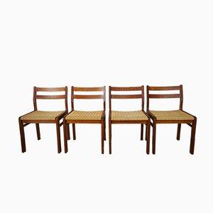 Teak Stühle von Jorgen Henrik Moller für J.L. Møllers, 1950er, 4er Set