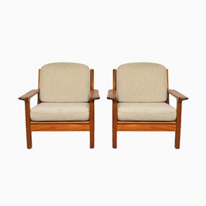 Vintage Armchairs by S. Burchardt-Nielsen for Möbel BB Fabrik, 1970s, Set of 2