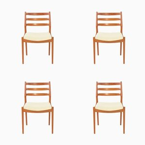 Vintage Dining Chairs by Arne Vodder for France & Søn, Set of 4