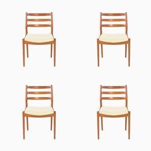 Vintage Esszimmerstühle von Arne Vodder für France & Søn, 4er Set