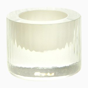 Egg-Cup with Ivory Center, Moire Collection, Hand-Blown Glass by Atelier George