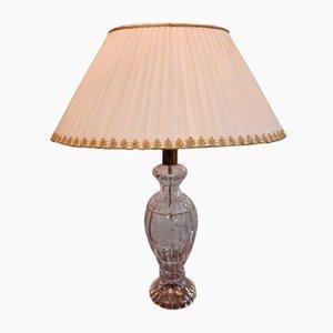 Vintage Bohemia Crystal Table Lamp, 1980s