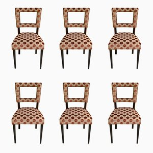 Art Deco Italian Chairs, 1940s, Set of 6