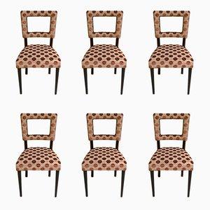 Chaises de Style Art Déco, Italie, 1940s, Set de 6